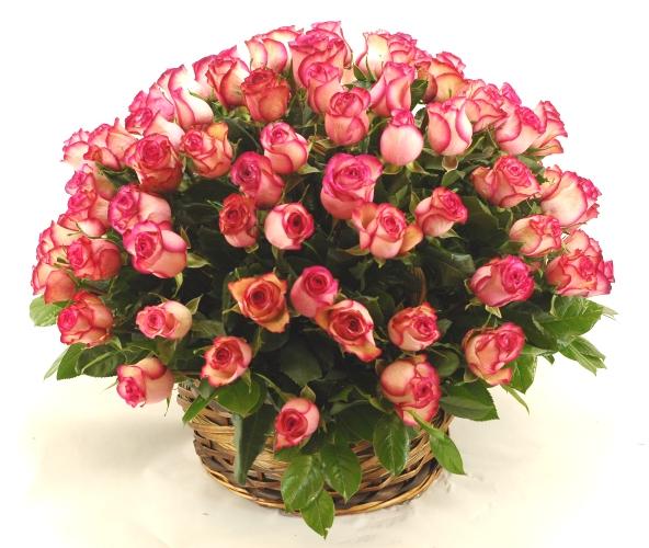 Доставка цветов 101 роза букет к 110
